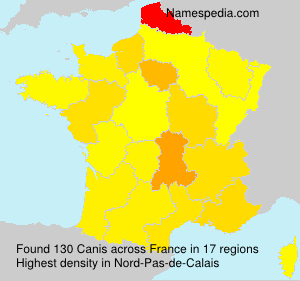 Surname Canis in France