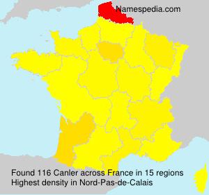 Surname Canler in France