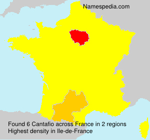 Surname Cantafio in France
