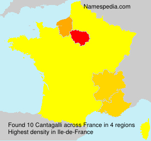 Surname Cantagalli in France