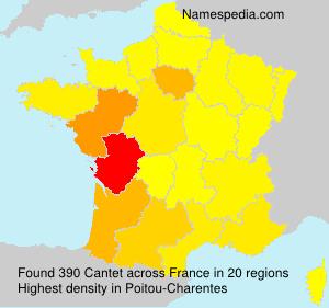 Surname Cantet in France
