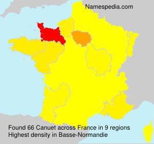 Surname Canuet in France