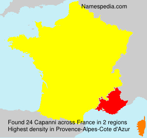 Surname Capanni in France
