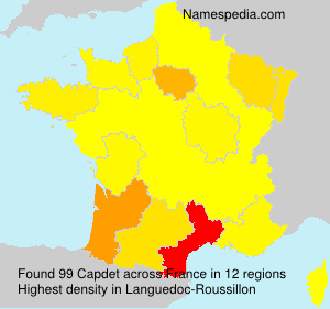 Surname Capdet in France