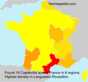 Surname Capdevilla in France