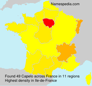 Surname Capelo in France