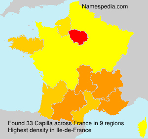 Surname Capilla in France