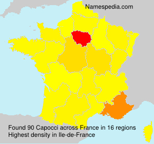 Surname Capocci in France