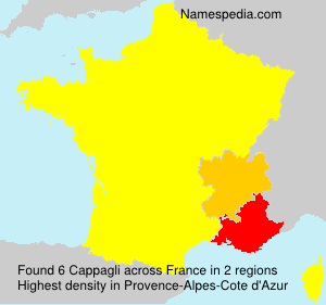 Surname Cappagli in France