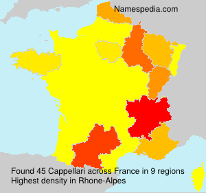 Surname Cappellari in France