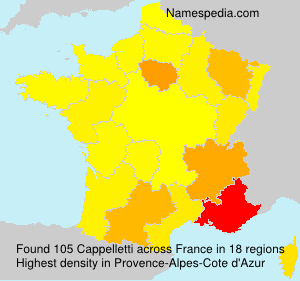 Surname Cappelletti in France