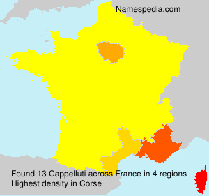 Surname Cappelluti in France