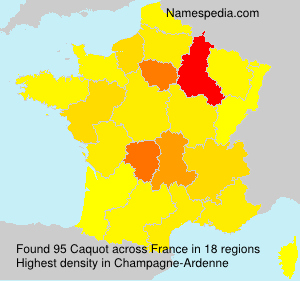Surname Caquot in France