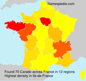 Surname Carado in France