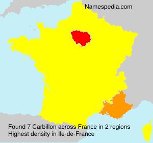 Surname Carbillon in France