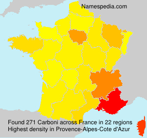 Surname Carboni in France