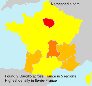Surname Carcillo in France