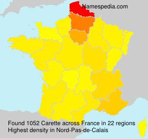 Surname Carette in France