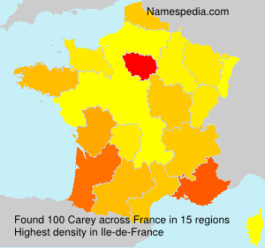 Surname Carey in France