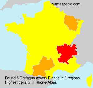 Surname Carfagna in France