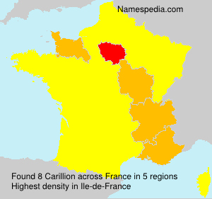 Surname Carillion in France