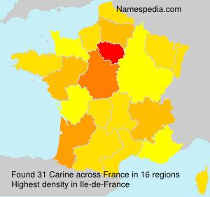 Familiennamen Carine - France