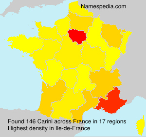 Surname Carini in France