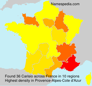 Surname Carisio in France