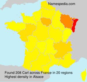 Surname Carl in France