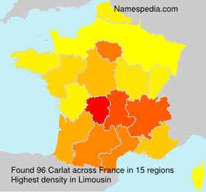 Surname Carlat in France