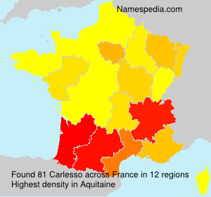 Surname Carlesso in France