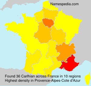 Surname Carlhian in France