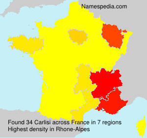 Surname Carlisi in France