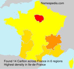 Surname Carlton in France
