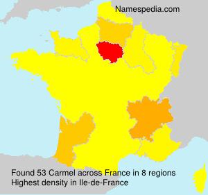 Familiennamen Carmel - France