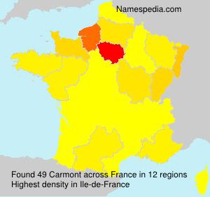 Familiennamen Carmont - France