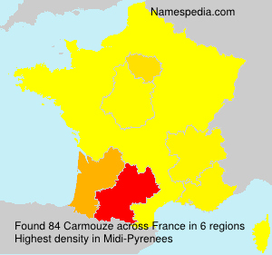 Surname Carmouze in France