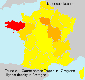 Surname Carnot in France