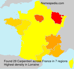 Surname Carpentieri in France