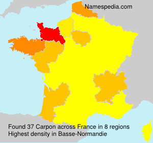 Surname Carpon in France