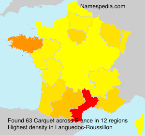 Surname Carquet in France