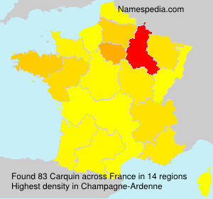Surname Carquin in France