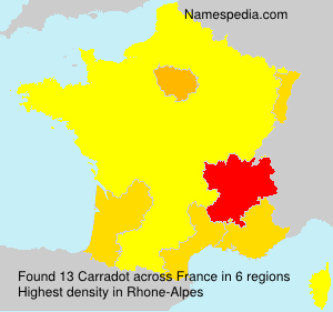 Surname Carradot in France