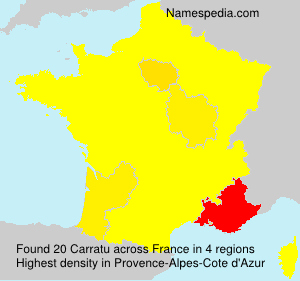 Surname Carratu in France