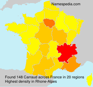 Surname Carraud in France