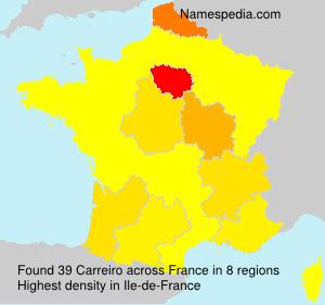 Familiennamen Carreiro - France
