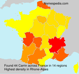 Surname Carrin in France