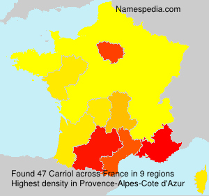 Surname Carriol in France