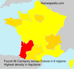 Surname Carriquiry in France