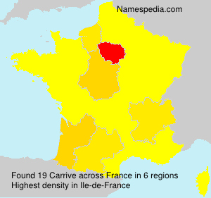 Surname Carrive in France